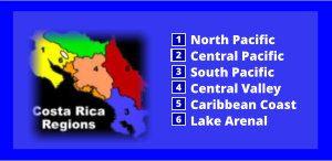 where to retire in costa rica regions map